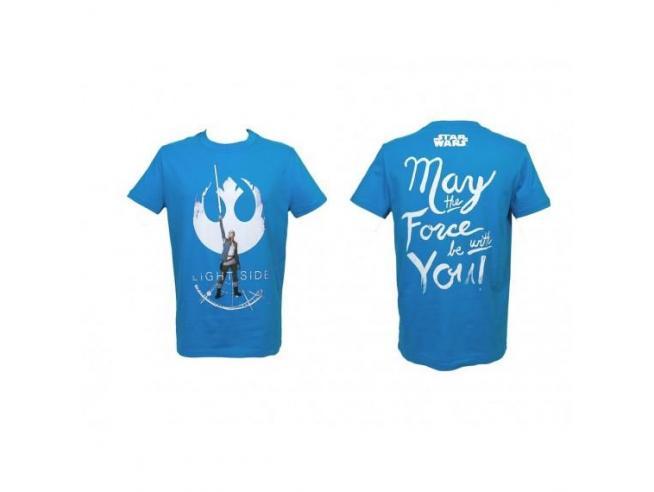 Sd Toys T-shirt Star Wars Ep Viii Rey Light Side Blue Boy Taglia M T-shirt