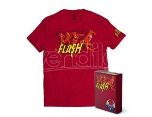 SD TOYS T-SHIRT DC FLASH THE CRIMSON COMET RED TAGLIA S T-SHIRT