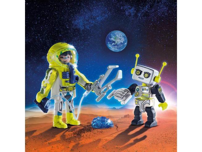 PLAYMOBIL SPACE 9492 - ASTRONAUTA E ROBOT