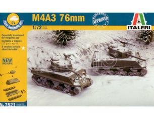 Italeri IT7521 M4 A3 76MM KIT 1:72 Modellino