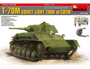 Miniart MIN35194 T-70 SOVIET LIGHT TANK KIT 1:35 Modellino
