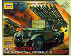 Zvezda Z6128 KATJUSHA SOVIET ROCKET LAUNCHER KIT 1:100 Modellino