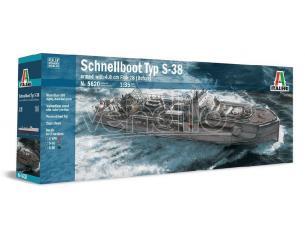 Italeri IT5620 SCHNELLBOOT TYP S-38 W/4.0 cm FLAK 28 (BOFORS) KIT 1:35 Modellino