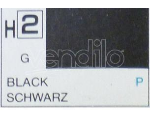 Gunze GU0002 BLACK GLOSS ml 10 Pz.6 Modellino
