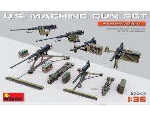 Miniart MIN37047 U.S. MACHINE GUN SET KIT 1:35 Modellino