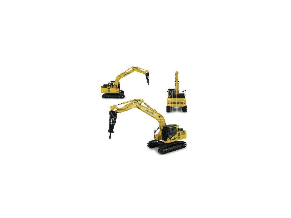 Universal Hobbies Uh8140 Komatsu Pc210lc-11 Con Hammer Drill (martello Demolitore) 1:50 Modellino