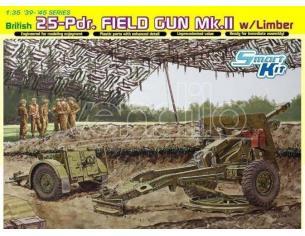 Dragon D6774 BRITISH 25 PDR FIELD GUN MK.II KIT 1:35 Modellino