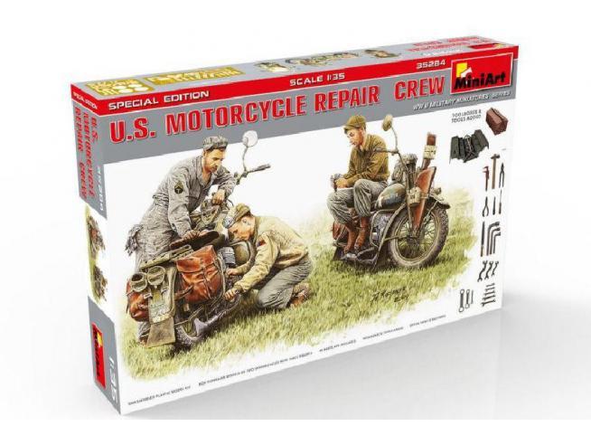 Miniart MIN35284 U.S.MOTORCYCLE REPAIR CREW KIT 1:35 Modellino
