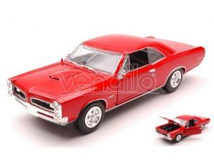 New Ray NY71883PR PONTIAC GTO 1966 RED 1:24 Modellino