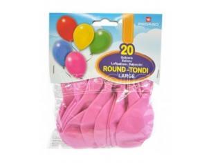 Confezione Palloncini Medium Rosa 20 Pezzi Tondi Pegaso