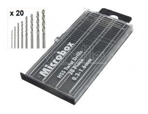 VALLEJO MICROBOX DRILL BITS SET (20) 0.3-1.6mm ACCESSORI PER MODELLISMO VALLEJO