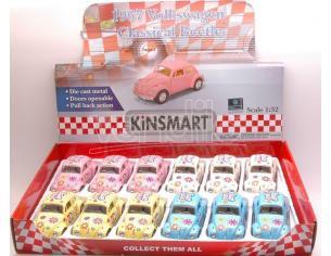 Hot Wheels KT5375DF VW CLASSIC BEETLE 1967 FLOWER POWER 1:32 Modellino