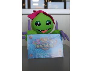 Digimon - Peluche Digimon Palmon verde con cornice davanti 20cm
