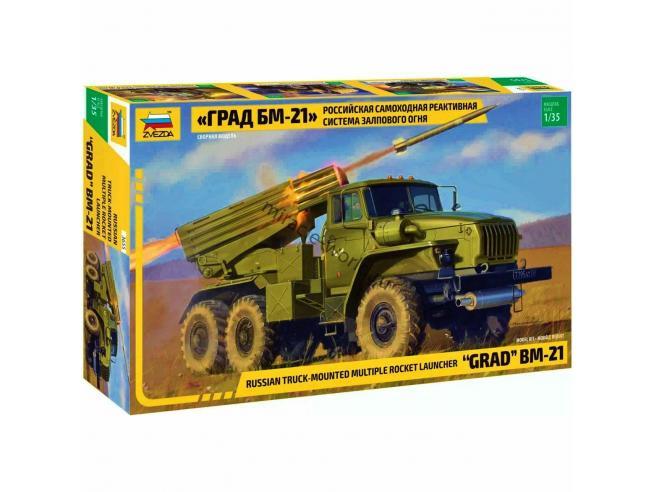 Zvezda Z3655 BM-21 GRAD ROCKET LAUNCHER KIT 1:35 Modellino