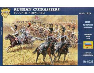 Zvezda Z8026 RUSSIAN CUIRASSIERS 1812 KIT 1:72 Modellino