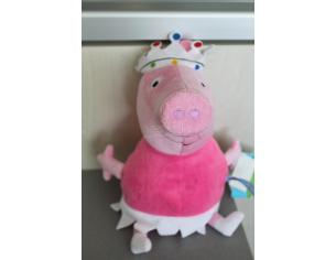 Peppa Pig - Peluche Peppa Pig Principessa con corona Rovinata 30 cm