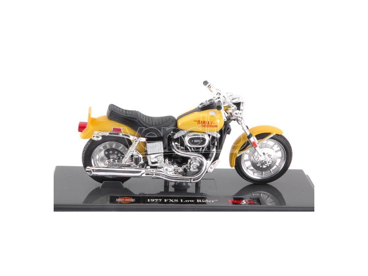 Maisto MI18866 HARLEY DAVIDSON FXS LOW RIDER 1977 1:18 Modellino