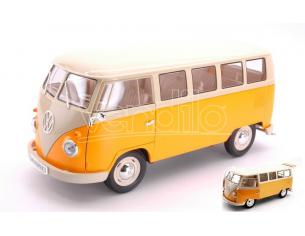 Welly WE18054Y VW T1 BUS DARK YELLOW/BEIGE 1:18 Modellino