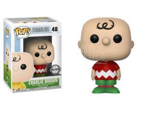Peanuts Funko POP Figura Charlie Brown Natale 9 cm Esclusiva SCATOLA ROVINATA