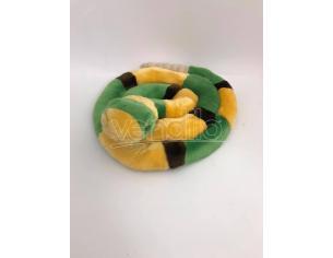 Peluche Serpente a sonagli arrotolato con suono dei sonagli