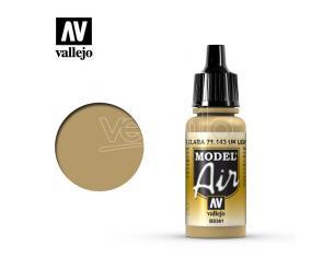 VALLEJO MODEL AIR UK LIGHT STONE 71143 COLORI VALLEJO