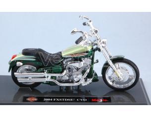 Maisto Mi18859 Harley Davidson Fxstdse Cvo 2004 Metallolic Green 1:18 Modellino