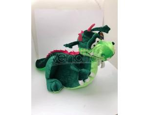 Peluche Drago verde e viola 50 cm
