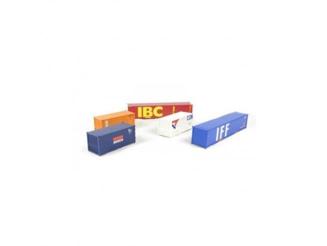 Lima HL8002 Set 5 unità container H0 1:87 Modellino