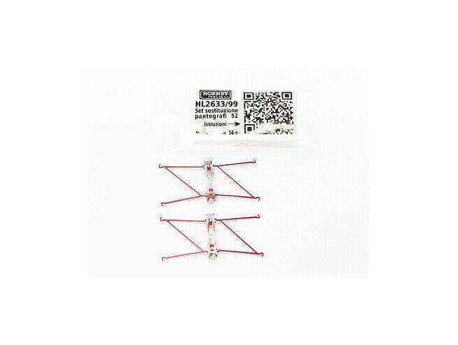 HORNBY HL2633/99 - Set Sostituzione Pantografi tipo 52 Modellismo