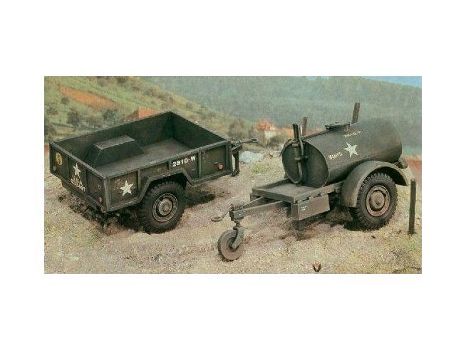 Italeri IT0229 GAL.S TANK TRAILER AND M101 KIT 1:35 Modellino