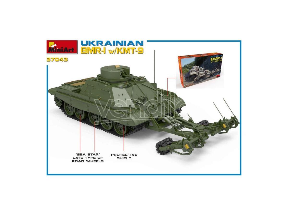 Miniart MIN37043 UKRAINIAN BMR-1 W/KMT-9 KIT 1:35 Modellino