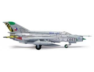 Herpa 554930 Czech Air Force Mikoyan MiG-21MF 211 TL MiG-21 farewell 1:200