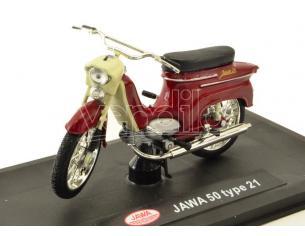 Abrex ABM011 MOTO JAWA PIONYR TYP 21 1967 TMAVE CERVENA 1:18 Modellino