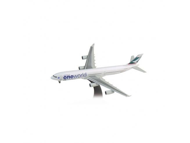 Herpa 504768 Cathay Pacific Airbus A340-300 One World 1:500