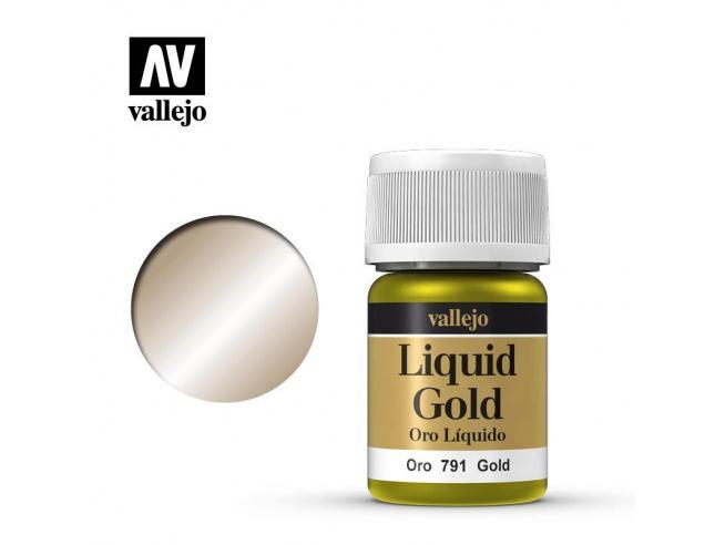 VALLEJO MODEL COLOR LIQUID GOLD ALCOHOL 70791 COLORI VALLEJO