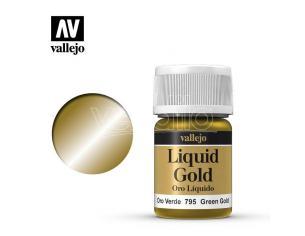 VALLEJO MODEL COLOR LIQUID GR GOLD ALCOHOL 70795 COLORI VALLEJO