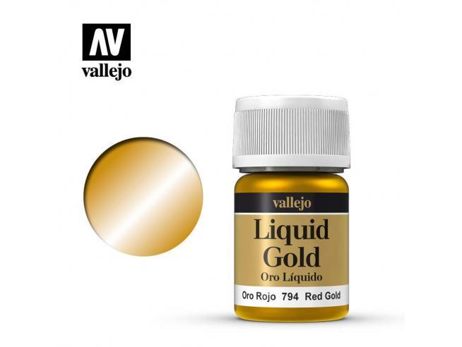 VALLEJO MODEL COLOR LIQUID RD GOLD ALCOHOL 70794 COLORI VALLEJO