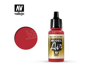 VALLEJO MODEL AIR RED 71102 COLORI VALLEJO