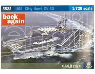 Italeri IT5522 USS KITTY HAWK CV-63 KIT 1:720 Modellino