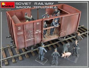 Miniart MIN35300 SOVIET RAILWAY WAGON TEPLUSHKA KIT 1:35 Modellino