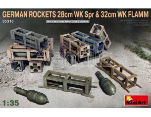 Miniart MIN35316 GERMAN ROCKETS 28 cm WK SPR & 32 cm WK FLAMM KIT 1:35 Modellino