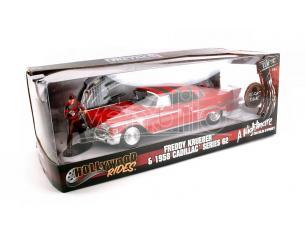 Jada 31102 Nightmare Cadillac Serie 62 del 1958 con Freddy Krueger 1:24 Modellino