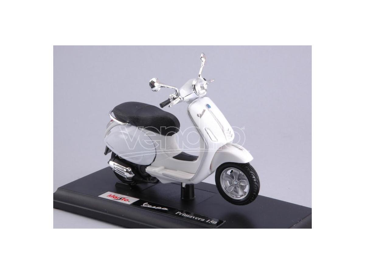 Maisto MI16886 VESPA PRIMAVERA 150 2014 WHITE 1:18 Modellino