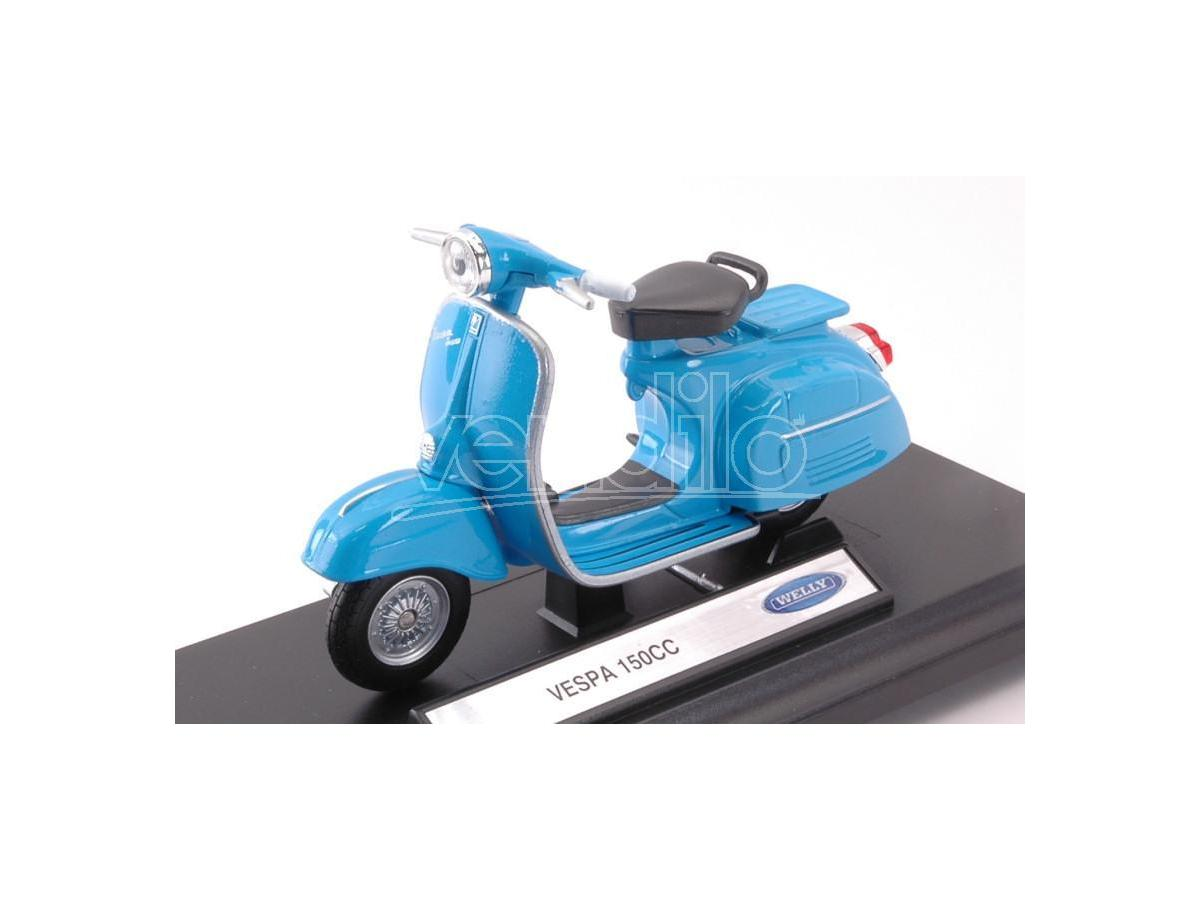 Welly WE39178E VESPA 150 CC LIGHT BLUE 1:18 Modellino