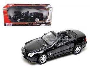 Motor Max 73130 Mercedes-Benz SL500 Nera 2002 1:18 Modellino Scatola Rovinata