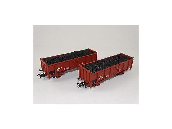 Lima HL6053 Set 2 carri con carico di carbone H0 1:87 Scatola rovinata