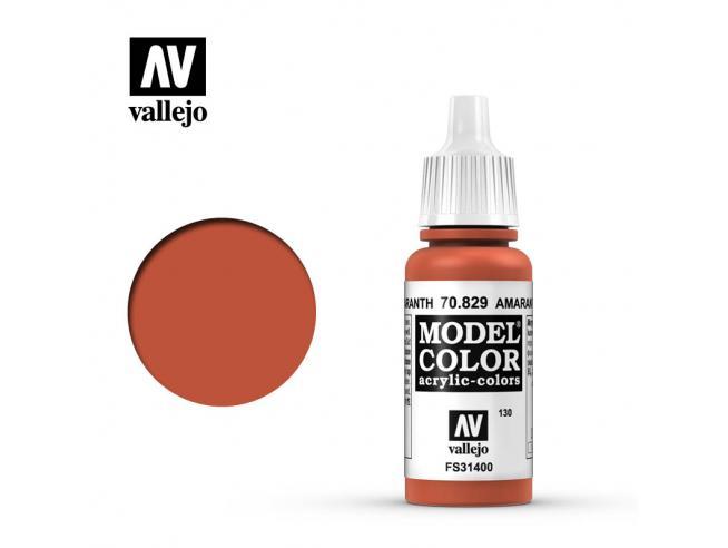 VALLEJO MC 130 AMARANTH RED 70829 COLORI VALLEJO