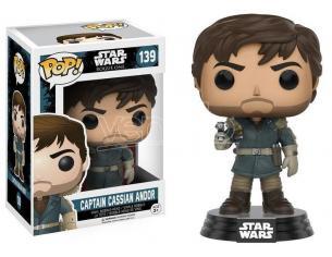 Star Wars Funko POP Vinile Figura Capitan Cassian Andor 9 cm SCATOLA ROVINATA
