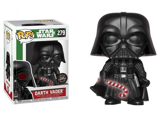 Star Wars Funko POP Film Vinile Darth Vader Natale 9 cm CHASE SCATOLA ROVINATA
