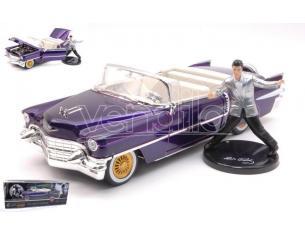 Jada Toys Jada30985 Cadillac Eldorado 1956 Con Elvis Presley Figura Purple 1:24 Modellino